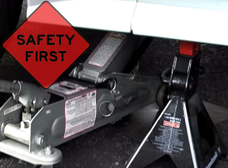 Floor Jack Safety Steps